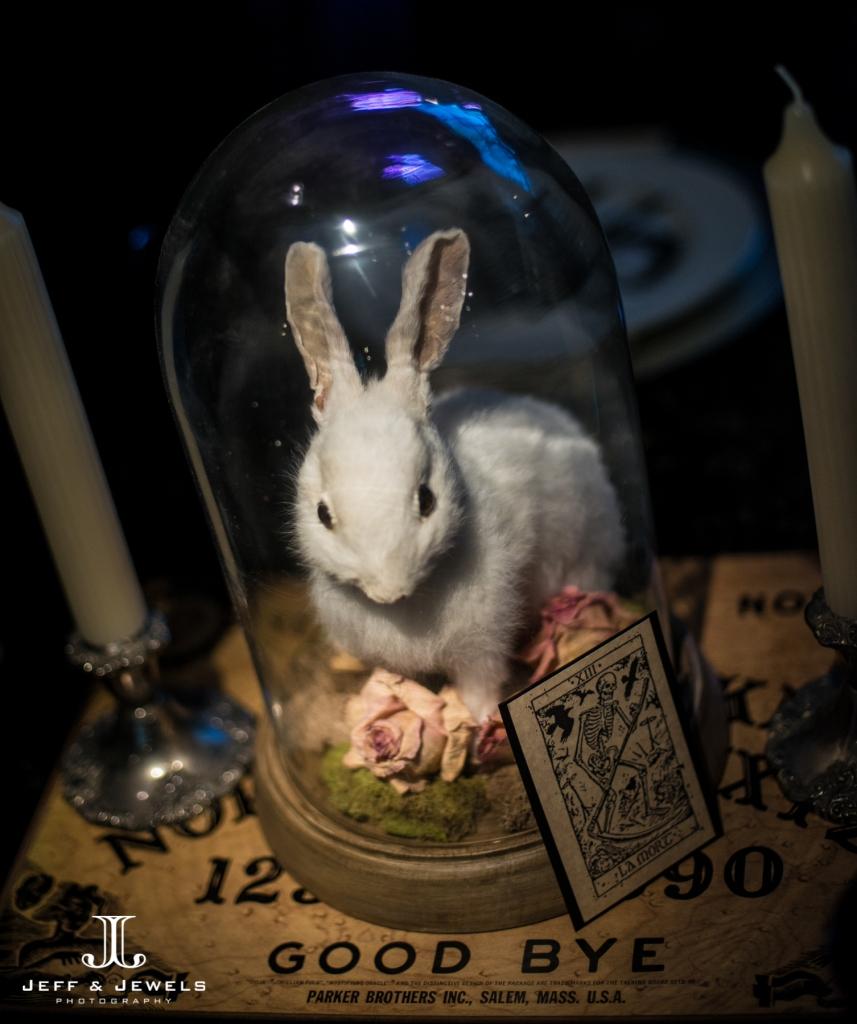 Halloween wedding centerpiece denver bridal show