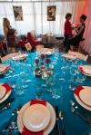 rockabilly tablescape at denver bridal show