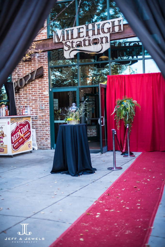 denver bridal show VIP red carpet entrance