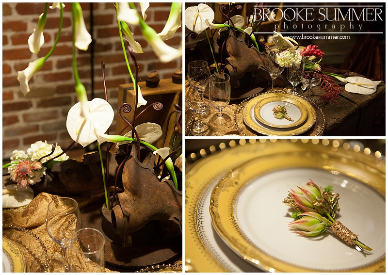 industrial elegance wedding decor denver bridal show