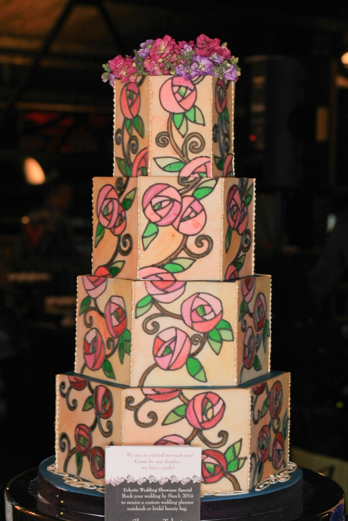 art deco stained glass wedding cake denver wedding show