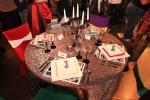 comic book super hero vignette table decor denver bridal show